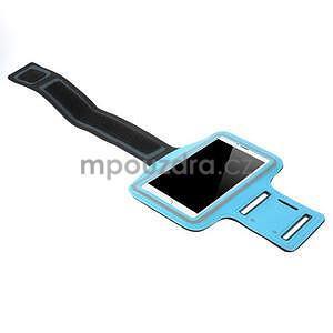 Bežecké puzdro na ruku pre mobil do veľkosti 152 x 80 mm - svetlomodré - 4