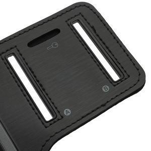 Čierne puzdro na ruku do veľkosti mobilu 125 x 61 mm - 4
