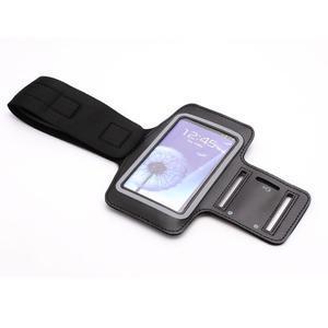 Športové puzdro na ruku až do veľkosti mobilu 140 x 70 mm - čierne - 4