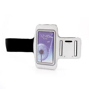 Športové puzdro na ruku až do veľkosti mobilu 140 x 70 mm - biele - 4