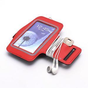 Športové puzdro na ruku až do veľkosti mobilu 140 x 70 mm - červené - 4