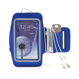 Športové puzdro na ruku až do veľkosti mobilu 140 x 70 mm - modré - 4
