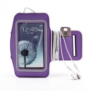 Športové puzdro na ruku až do veľkosti mobilu 140 x 70 mm - fialové - 4