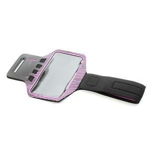 Sports Gym puzdro na ruku pre veľkosť mobilu až 140 x 70 mm - rose - 4