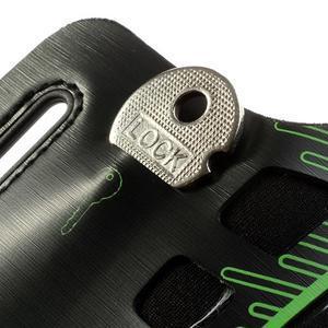 Sports Gym puzdro na ruku pre veľkosť mobilu až 140 x 70 mm -  zelené - 4