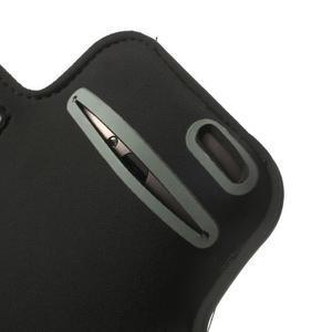 Čierne Sports Gym puzdro na ruku pre veľkosť mobilu až 150 x 70 mm - 4