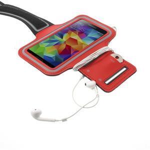 Fitsport puzdro na ruku pre mobil do veľkosti až 145 x 73 mm -  červené - 4