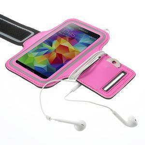 Fitsport puzdro na ruku pre mobil do veľkosti až 145 x 73 mm - rose - 4