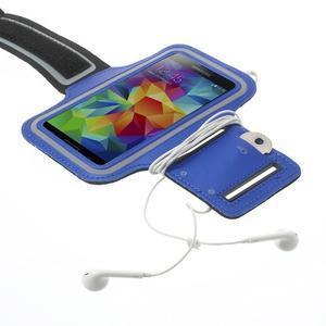 Fitsport puzdro na ruku pre mobil do veľkosti až 145 x 73 mm - tmavomodré - 4