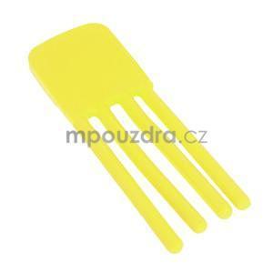 Tvarovatelný stojánek na mobil, žltý - 4