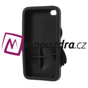 silikónové puzdro pre iPod Touch 4 - hnedá sova - 4