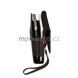 Cloths PU kožené univerzální puzdro do velikosti 155 x 80 x 35 mm - čierné - 4