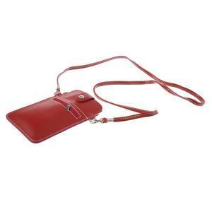 Univerzální pouzdro/kapsička na mobil do rozměru 180 x 110 mm - červené - 4