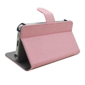 Univerzálne peňaženkové puzdro do 159 x 79 mm - ružové - 4