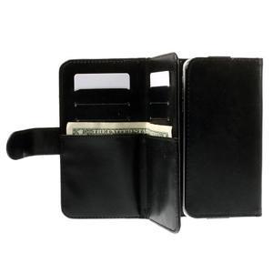Univerzálne PU kožené puzdro pre mobil do 160 x 80 mm - čierne - 4