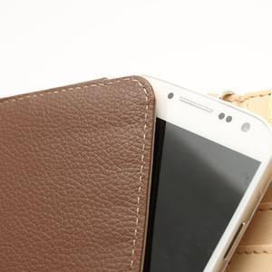 Softy univerzálne puzdro pre mobil do 137 × 71 × 8,6 mm - hnedé - 4