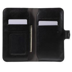 Peňaženkové univerzálne puzdro pre mobil do 140 x 68 x 10 mm - čierne - 4