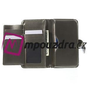Luxusní univerzální pouzdro pro telefony do 140 x 70 x 12 mm - šedozlaté - 4