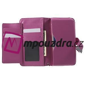 Luxusní univerzální pouzdro pro telefony do 140 x 70 x 12 mm - rose - 4