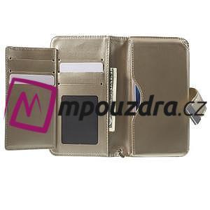 Luxusné univerzálne puzdro pre telefony do 140 x 70 x 12 mm - zlaté - 4