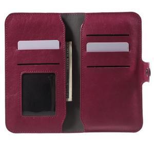 Peňaženkové univerzálne puzdro pre mobil do 140 x 68 x 10 mm - rose - 4