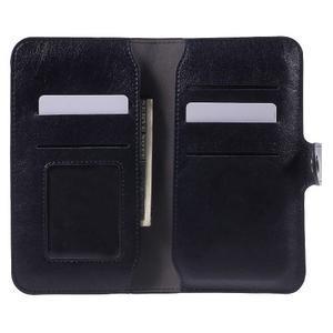 Peňaženkové univerzálne puzdro pre mobil do 140 x 68 x 10 mm - tmavomodré - 4
