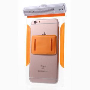 Nox7 vodotesný obal pre mobil do rozmerov 16.5 x 9.5 cm - oranžový - 4
