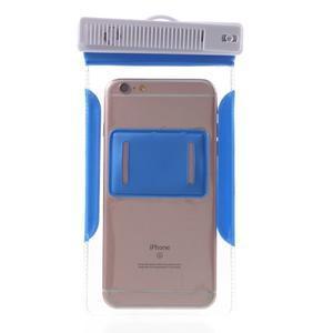 Nox7 vodotesný obal pre mobil do rozmerov 16.5 x 9.5 cm - modrý - 4