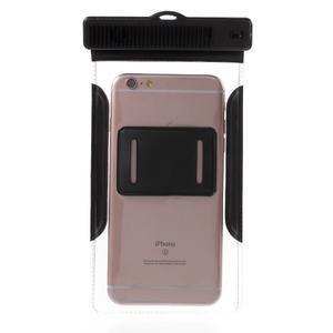 Nox7 vodotěsný obal na mobil do rozměru 16.5 x 9.5 cm - černý - 4