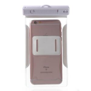 Nox7 vodotesný obal pre mobil do rozmerov 16.5 x 9.5 cm - biely - 4
