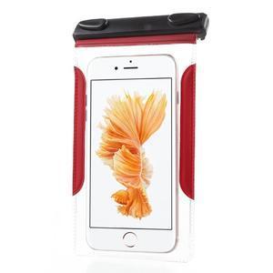 Nox7 vodotesný obal pre mobil do rozmerov 16.5 x 9.5 cm - červený - 4