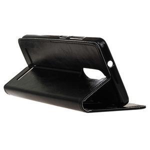 Horse PU kožené puzdro pre mobil Lenovo K5 Note - čierné - 5