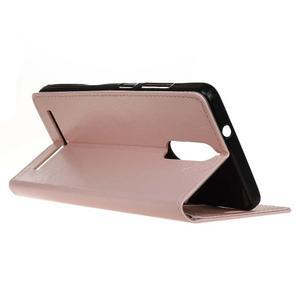 Horse PU kožené puzdro pre mobil Lenovo K5 Note - ružové - 5