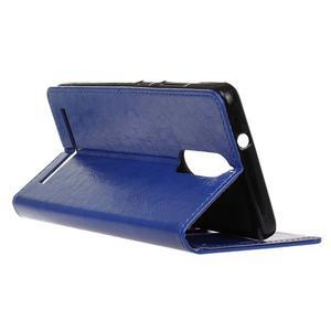 Horse PU kožené puzdro pre mobil Lenovo K5 Note - modré - 5