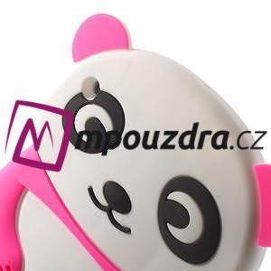 3D Silikonové puzdro na iPad mini 2 - ružová panda - 5