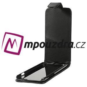 Kožené flipové puzdro na iPhone 6, 4.7 - čierné - 5