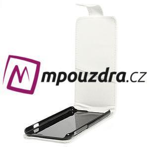 Kožené flipové puzdro pre iPhone 6, 4.7 - biele - 5