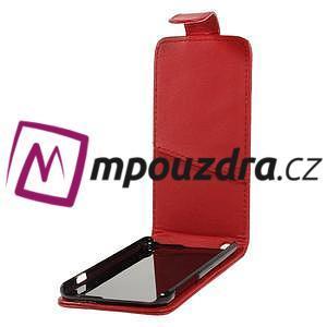 Kožené flipové puzdro pre iPhone 6, 4.7 - červené - 5