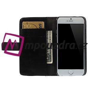 Peňaženkové kožené puzdro na iPhone 6, 4.7 - čierné - 5