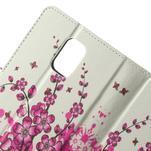 Peňaženkové puzdro pre Samsung Galaxy Note 4- kvitnúca vetvička - 5/7