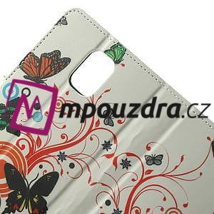 Peňaženkové puzdro na Samsung Galaxy Note 4- barevní motýlci - 5