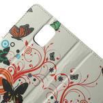 Peňaženkové puzdro pre Samsung Galaxy Note 4- farebné motýle - 5/7
