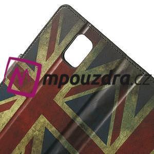Peňaženkové puzdro na Samsung Galaxy Note 4- UK vlajka - 5