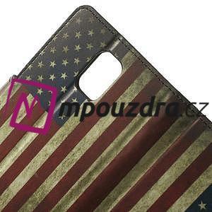 Peňaženkové puzdro pre Samsung Galaxy Note 4- USA vlajka - 5