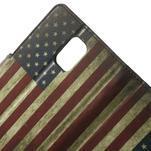 Peňaženkové puzdro pre Samsung Galaxy Note 4- USA vlajka - 5/7
