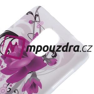 Gélové puzdro na Samsung Galaxy Note 4- fialový květ - 5