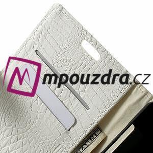 Peňaženkové PU kožené puzdro pre Sony Xperia Z3 D6603 - biele - 5