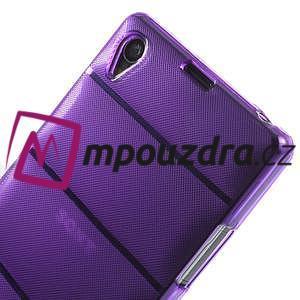 Gelové Body pouzdro na Sony Xperia Z1 C6903 - fialové - 5