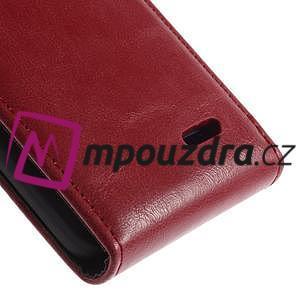 Flipové puzdro na LG L65 D280 - červené - 5