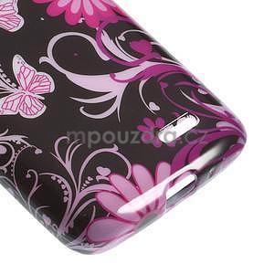 Gélové puzdro pre LG L65 D280 - motýľ a kvet - 5